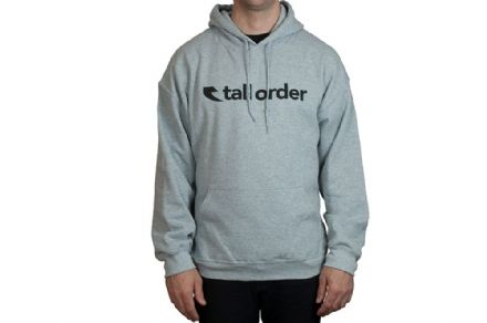 Tall Order Font Hooded Sweatshirt - Grey Large